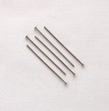 "Black Plated 1"" (25mm) Headpin - 50"